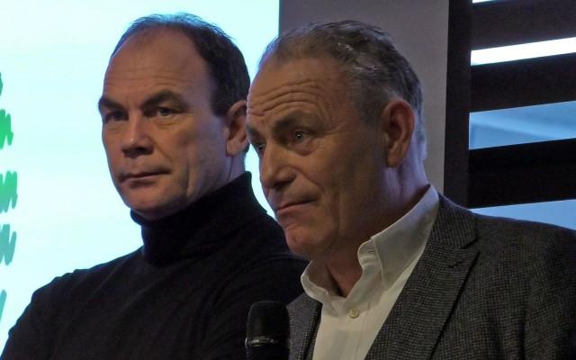 Gert Huzink [links] en Ewald Huzink [rechts]