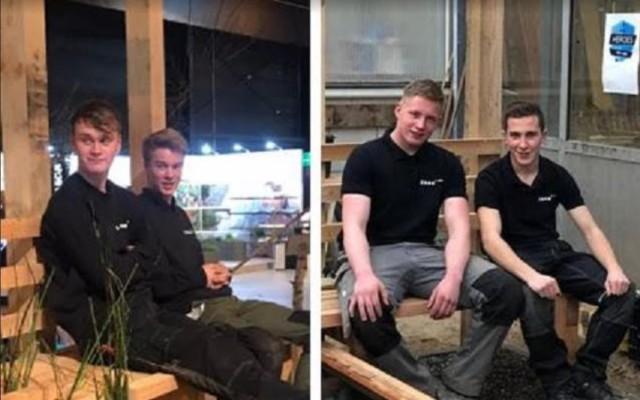 Olaf Wassens, Robert van Rhee, Ryan van den Bos en Dennis Eerdman, studenten Tuin & Landschap