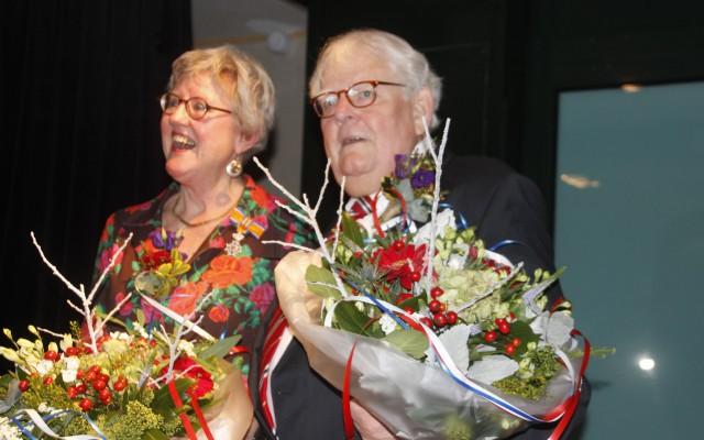 Monique Budde en Steven Nijhof met lintje 2019