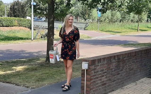 Anne Rietberg, helpt bij vele evenementen binnen KWF Almelo