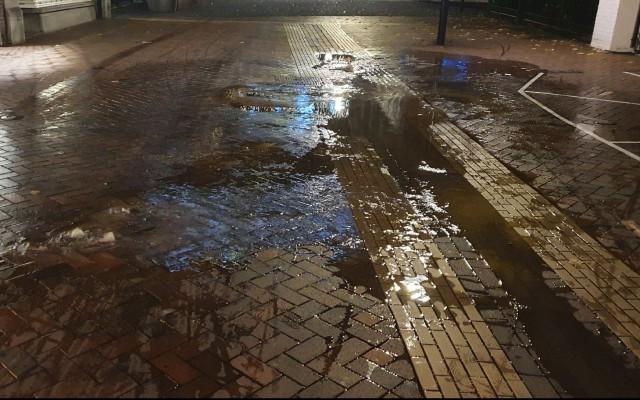 Wateroverlast door waterleidingbreuk