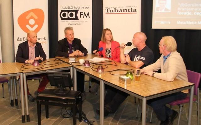Wouter Teeuw (CU), Frits Akse (SP), Bert Hümmels (LA) en Hans Buitenweg (GL)