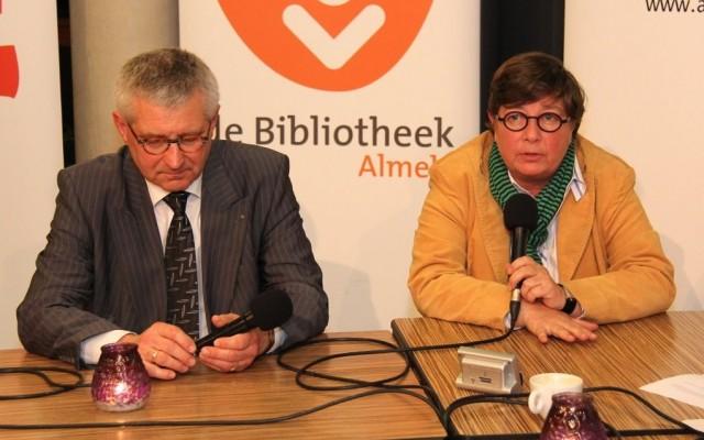 Wethouderskandidaat Jan van Marle en fractievoorzitter Irene ten Seldam, beiden CDA