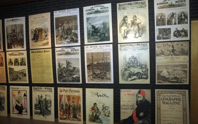 Delen van de tentoonstelling '100 jaar Armeense Genocide en Aramese Sayfo'