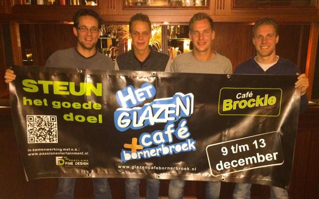 Glazen Café Bornerbroek voor lokale doelen