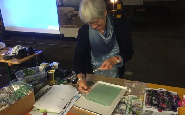 Decoraties maken met een gelatin printing plate