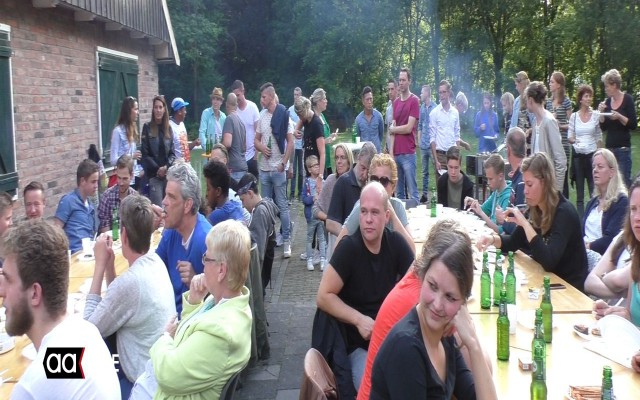 aflsuiting met barbecue