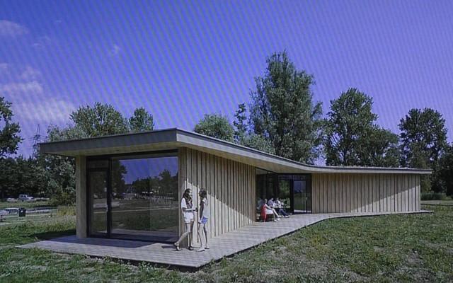Het nieuwe paviljoen