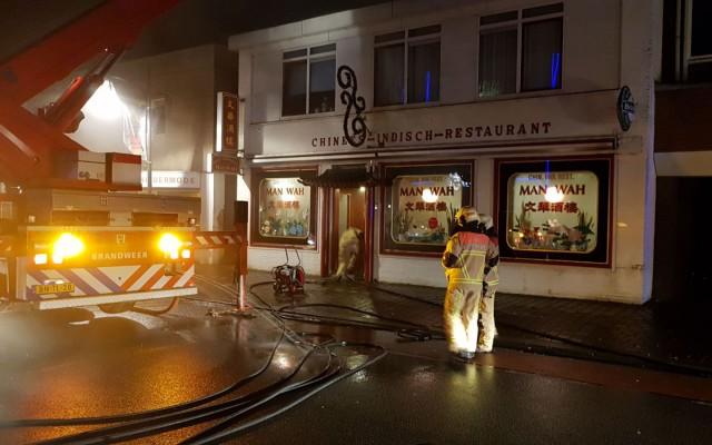 Keuekenbrand bij Chinees restaurant Ootmarsumsestraat