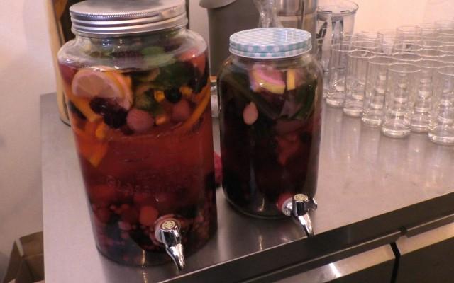 Vruchten op water voor de kleinen