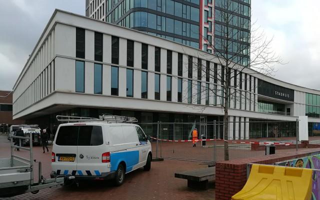Ook het Stadhuis was enkele uren gesloten