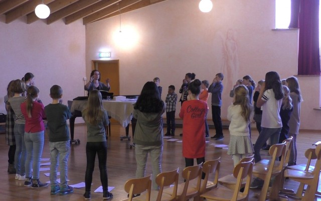 Zingen in het Duits in de Grote Kerk, best spannend!
