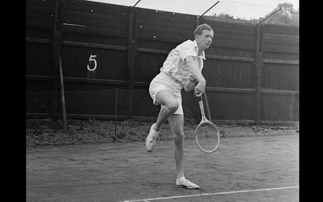 Britten speelde een niet onaardig potje tennis
