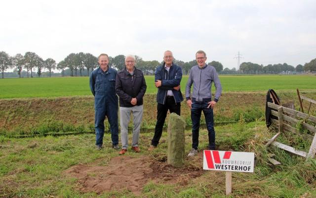 foto's vlnr Herman Harink, Henk Stegeman, Jan Veerenhuis, en Bert Nijkamp