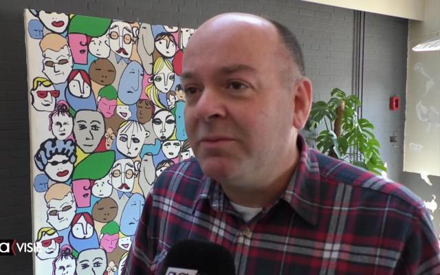 Eric van Veluwen  is één van de mensen die zich in Almelo inzet voor de Groene Loper