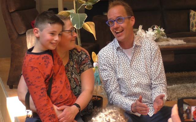 Chantal en zoon en Willem Gunneman